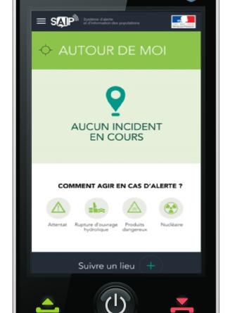 Illustration de l'Application d'alerte et d'information des populations en cas de crise (SAIP)
