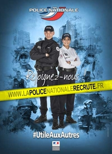 Affiche de la Campagne de recrutement de la Police Nationale 2016