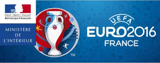 Illustration du Ministère de l'intérieur pour Euro 2016 en France