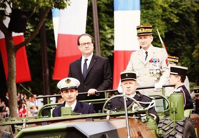 Photo du Président François HOLLANDE de la République au défilé du 14 juillet 2016