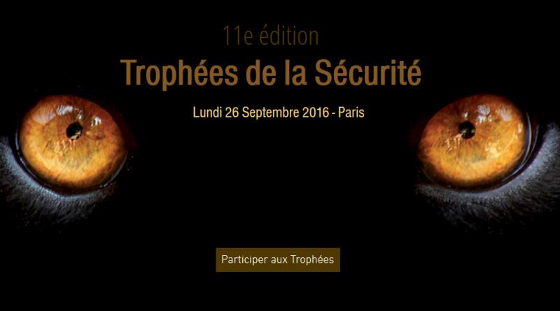 Couverture de la 11 éme Edition des Trophées de la sécurité - Lundi 26 Septembre 2016 - Paris