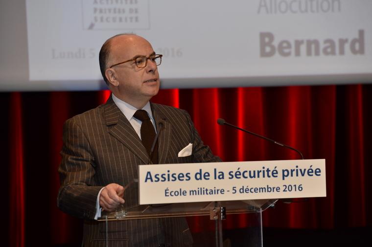 Photo : Allocution d'ouverture des Assises de la sécurité privée par Bernard CAZENEUVE, ministre de l'Intérieur