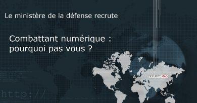 Le ministère de la défense recrute des combattants numériques