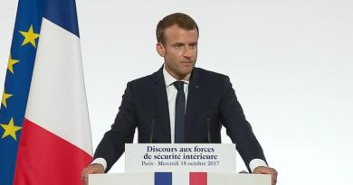 Discours du Président de la République, Emmanuel Macron, devant les forces de sécurité intérieure